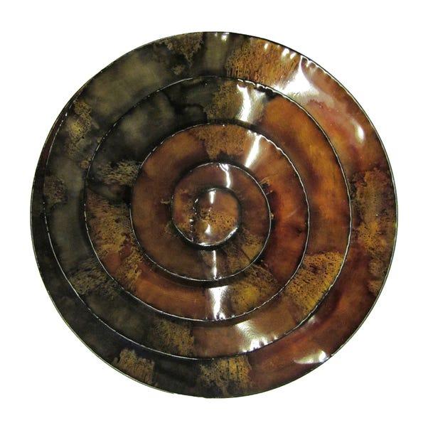 Spiral Wall Art Brown