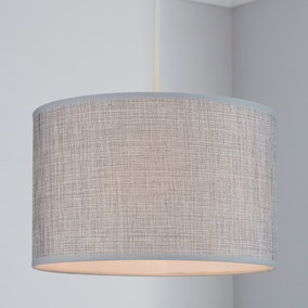Carrie Textured 30cm Drum Grey Shade