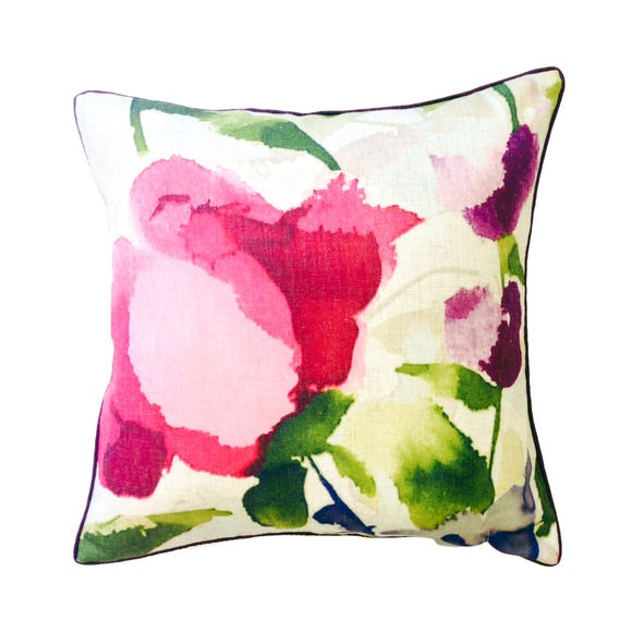 Watercolour Brights Square Cushion Pink