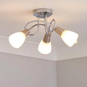 Smithson 3 Light Chrome Ceiling Fitting