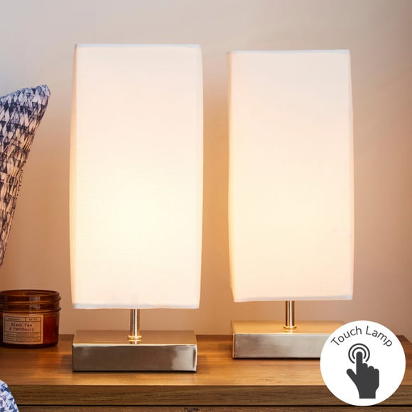 Charlotte Touch Dimmable Cream Table Lamps Cream