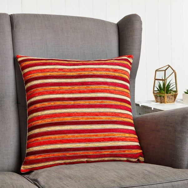 Large Chenille Blenheim Cushion Cover Orange
