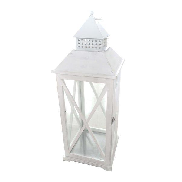 White Wooden Lantern White
