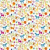 Jungle Boogie Multicoloured Cotton Fabric MultiColoured