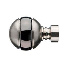 Mix and Match Manhattan Satin Silver Ball Finials Dia. 28mm