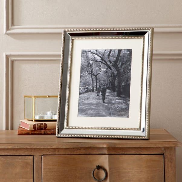 "Dorma Champagne Mirrored Photo Frame 10"" x 8"" (25cm x 20cm) Champagne"