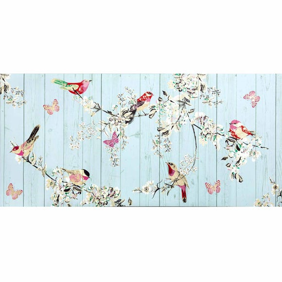 Duck-Egg Beautiful Birds Canvas Duck Egg (Blue)