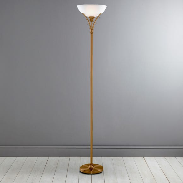 Linea Antique Brass Floor Lamp Antique Brass