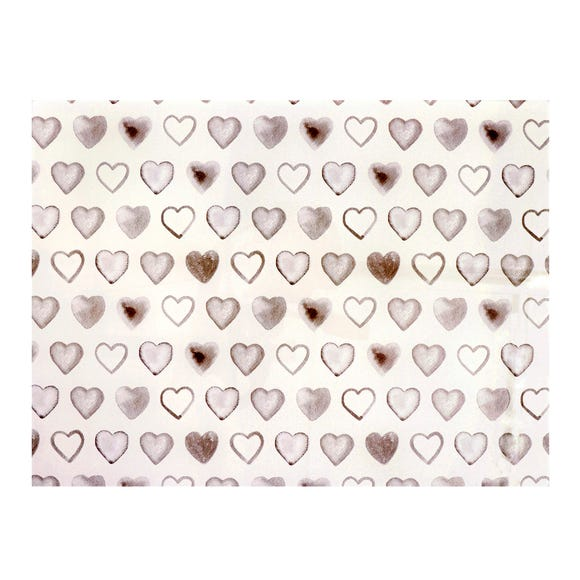 Country Taupe Heart Glass Worktop Saver Taupe (Brown)