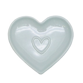 Country Heart Duck-Egg Teabag Tidy