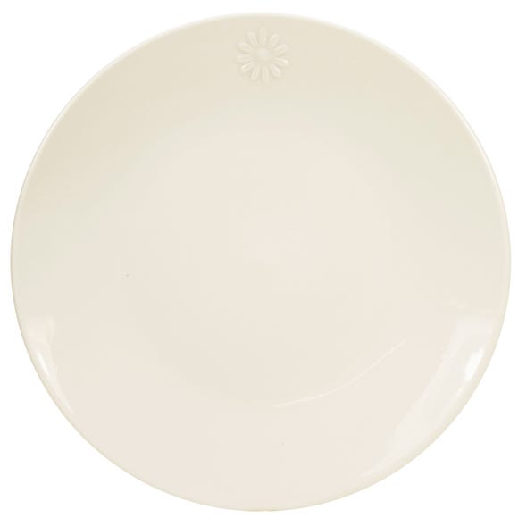 Daisy Dinner Plate White