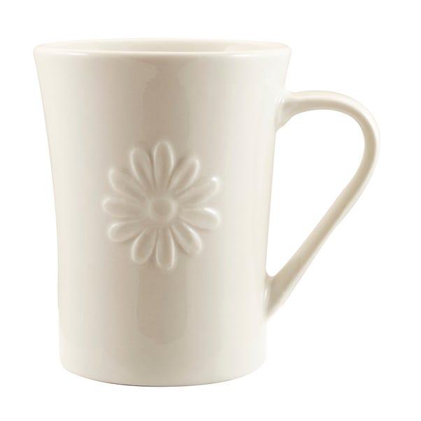 Daisy White Flared Mug White