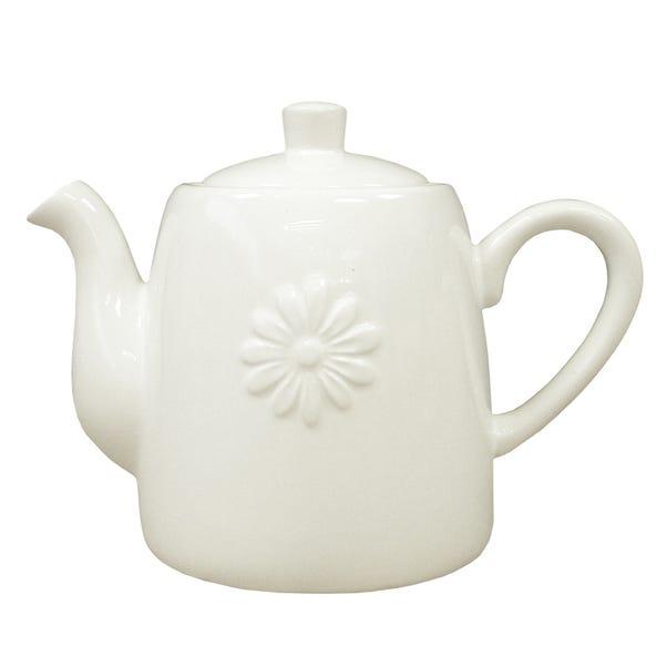 Daisy Teapot White