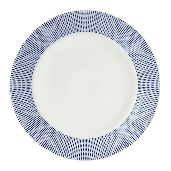 Royal Doulton Pacific Dot Dinner Plate Blue