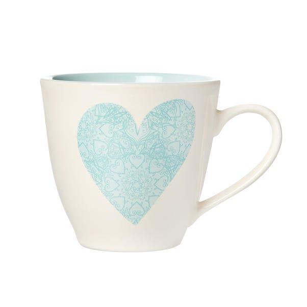 Milton Duck-Egg Heart Mug Duck Egg (Blue)