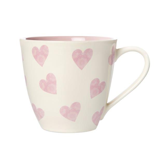 Pink Milton Heart Mug Pink