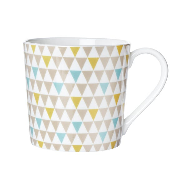 Geometric Triangle Mug MultiColoured