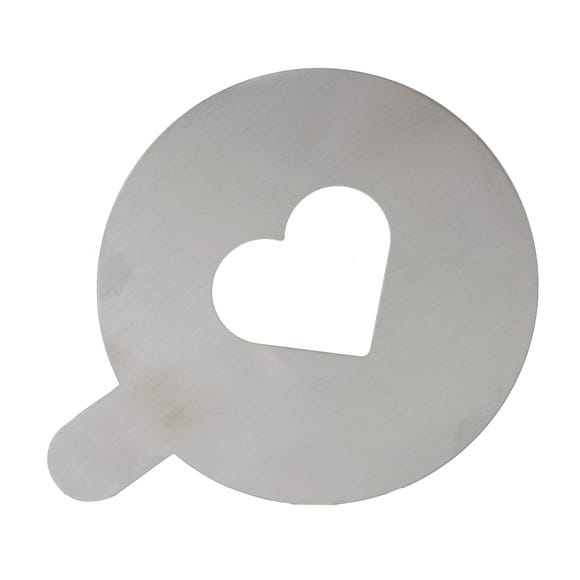 Heart Coffee Stencil Stainless Steel