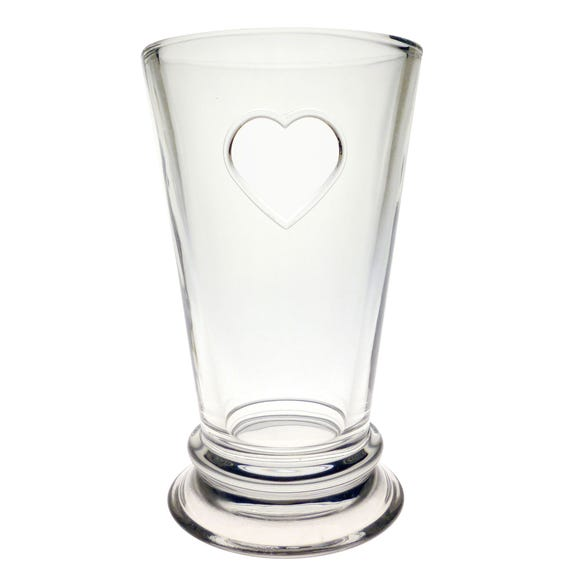 Country Heart Highball Glass Clear