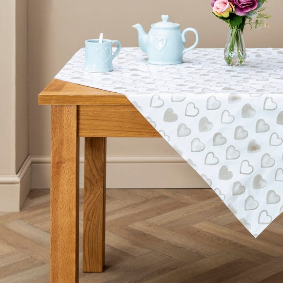 Country Heart PVC Tablecloth Taupe (Cream) undefined