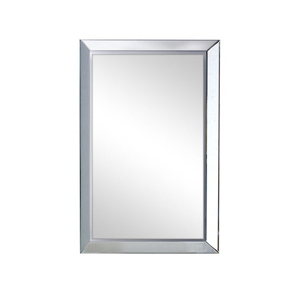 Bevelled Wall Mirror 76x51cm Clear