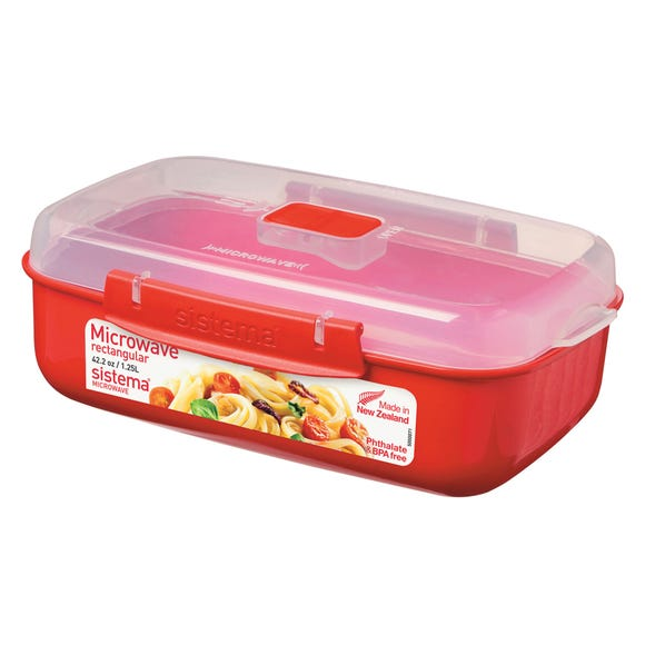 Sistema Microwave Container Red