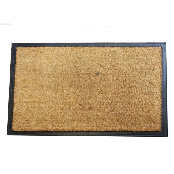 Jumbo Plain Rubber and Coir Doormat Brown