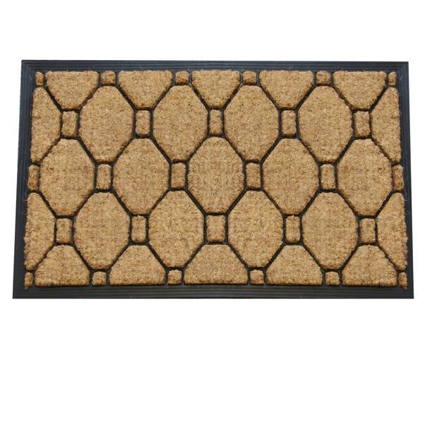 Jumbo Honeycomb Rubber and Coir Doormat Brown