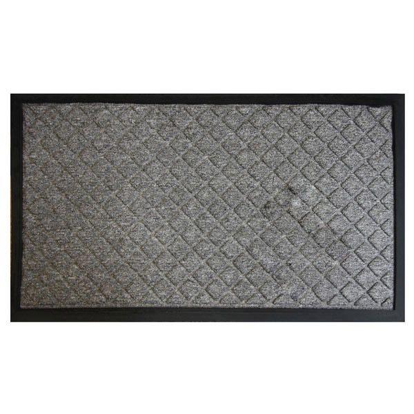Diamond Textured Doormat Charcoal (Grey) undefined