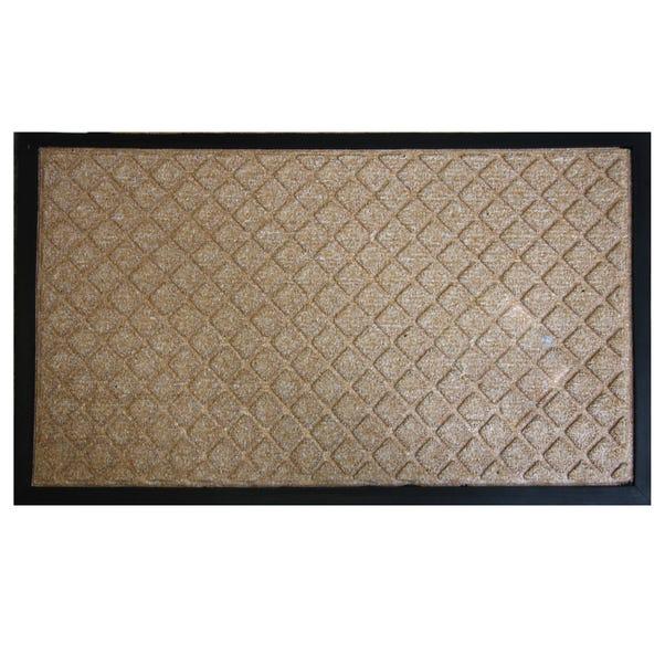Diamond Textured Doormat Natural undefined