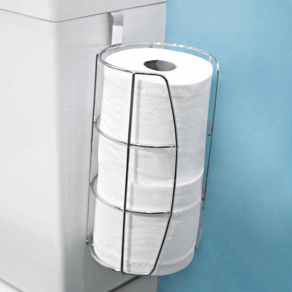 3 Roll Toilet Caddy Chrome