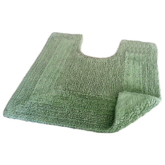 Super Soft Reversible Fern Pedestal Mat Fern (Green)