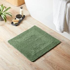 Super Soft Reversible Woodland Fern Square Bath Mat