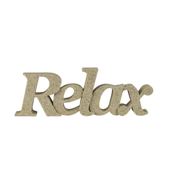 Resin Relax Word Decor Sandstone (Brown)