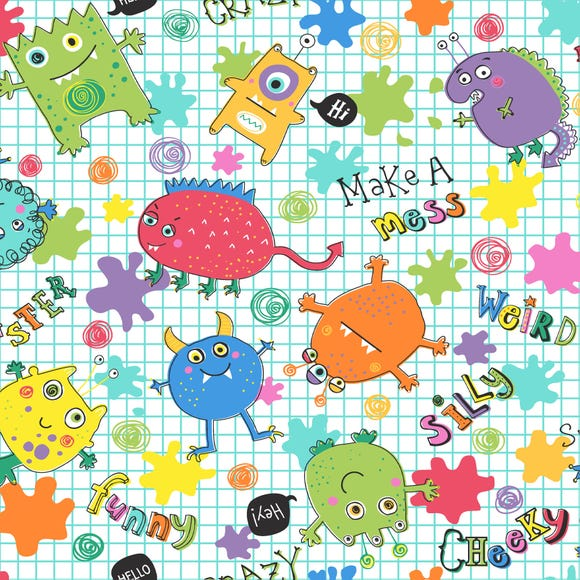 Monsters Fabric MultiColoured