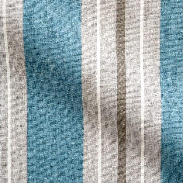 Vintage Stripe Blue Fabric Blue