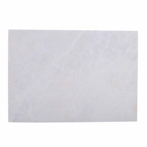 Marble Rectangular Chopping Board White