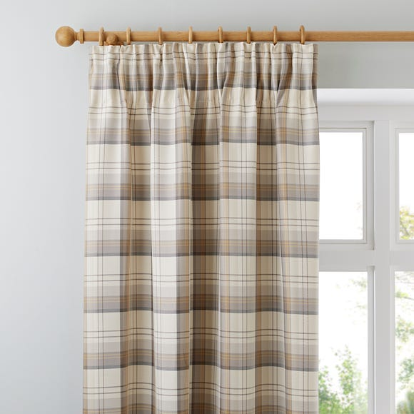 Balmoral Ochre Pencil Pleat Curtains  undefined