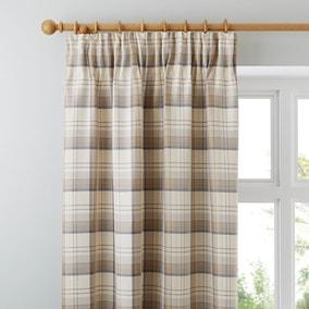 Balmoral Ochre Pencil Pleat Curtains