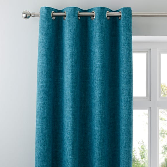 Vermont Teal Eyelet Curtains  undefined