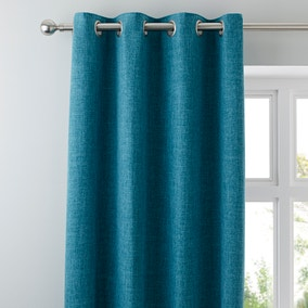 Vermont Teal Eyelet Curtains