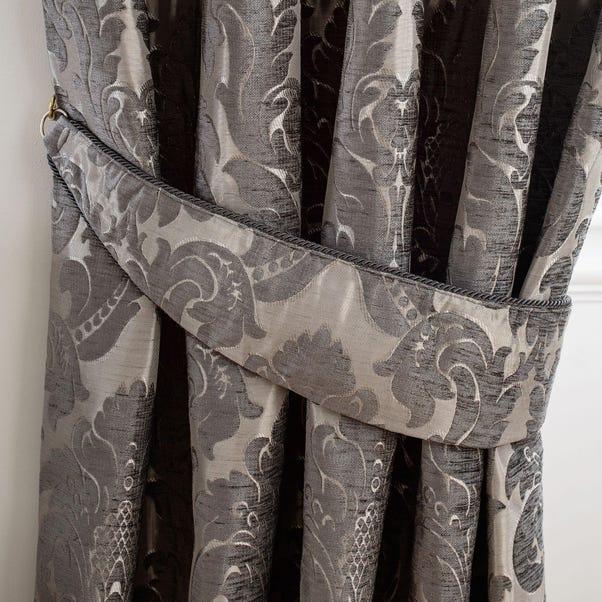 Versailles Charcoal Tiebacks Charcoal (Grey)