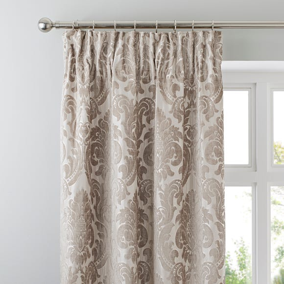 Versailles Natural Pencil Pleat Curtains Natural undefined