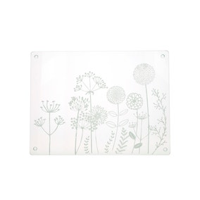 Floral Etched Glass Worktop Saver