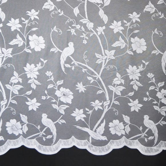 Paradise Birds Lace Fabric  undefined