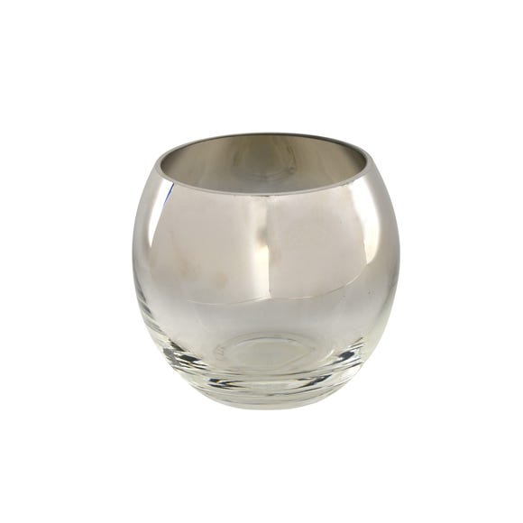 5A Fifth Avenue Silver Glass Tea Light Holder Silver