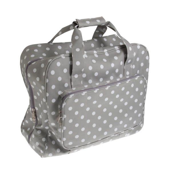 Grey Dotty Matt Sewing Machine Bag Grey