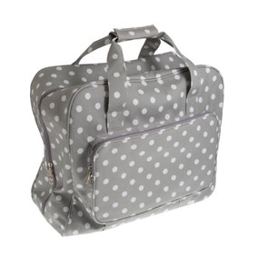 Grey Dotty Matt Sewing Machine Bag