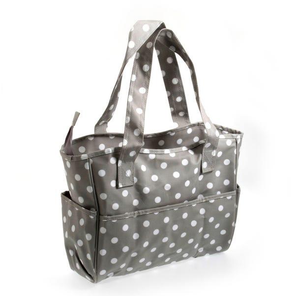 Grey Dotty Matt Craft Bag Grey