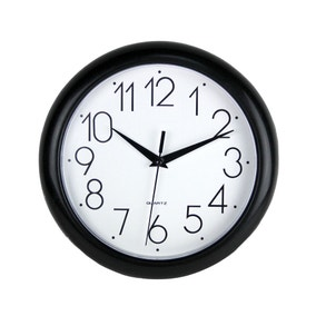 Simply Plastic 24cm Wall Clock Black